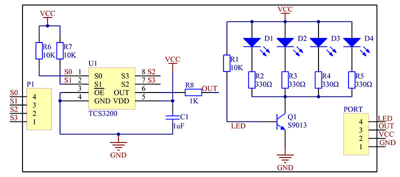 color sensor module wiki rh wiki sunfounder cc colour sensor circuit diagram