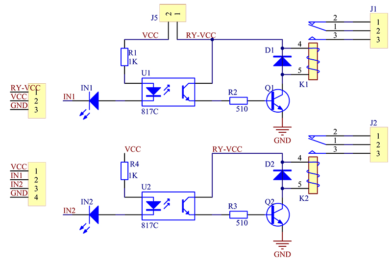 2 Channel 5V Relay Module - Wiki