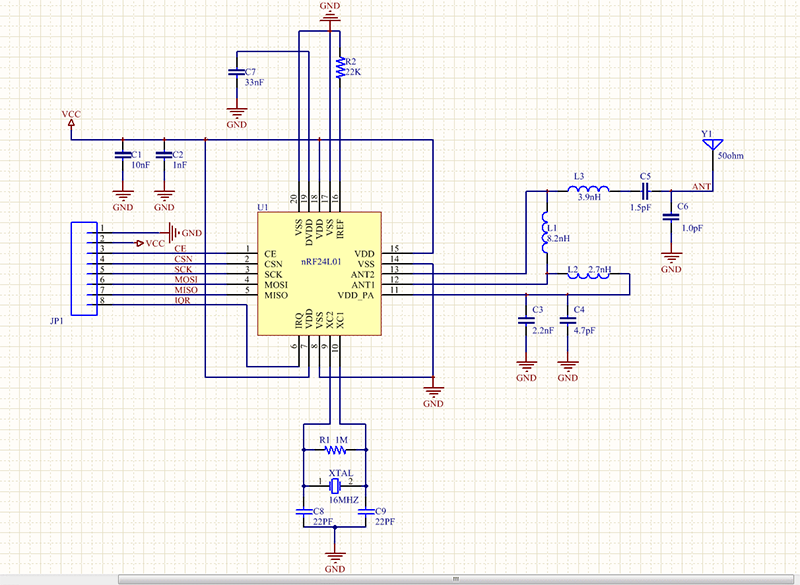 Nrf on Power Supply Schematic Diagram